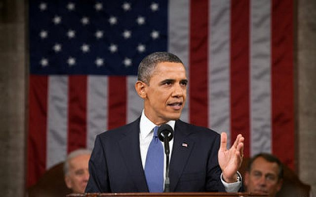 Absent from President Obama's State of the Union address was mention of the arrested U.S. sailors and San Bernadino. Photo by Evan Vucci / Pool via CNP