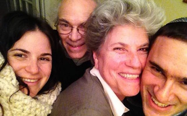 Doreen Seidler-Feller, pictured with her two children and her husband, Chaim, says her main mission is to support monogamy and marriage.  Phoro courtesy of Doreen Seidler-Feller