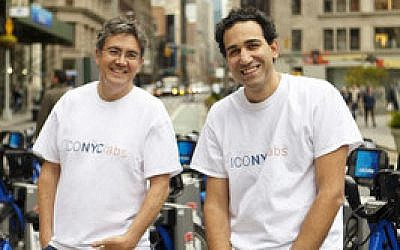 "Arie Abecassis (left) and Eyal Bino are co-founders of ICONYC Labs, an ""accelerator program"" that helps launch Israeli startups in New York.  Photo courtesy of ICONYC Labs"