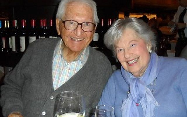Ellis Gusky, 101, and Susan Lindenbaum, soon to be 100, have been dating for 11 years.   Photo provided by Jack Markowitz