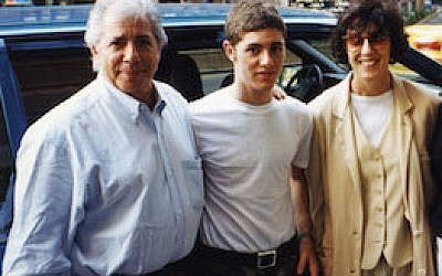 Jacob Bernstein is flanked by his parents, Carl Bernstein and Nora Ephron.  Photo courtesy of HBO