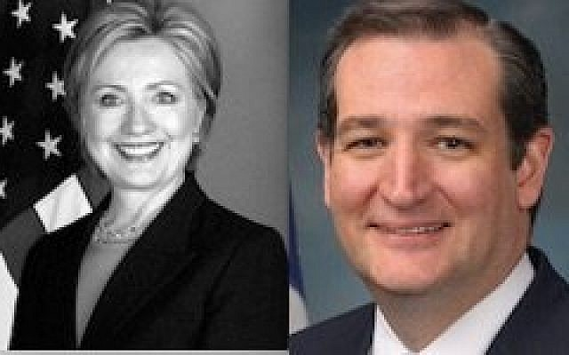 Hillary Clinton and Ted Cruz  Photos courtesy of wikimedia.org/wikipedia/commons