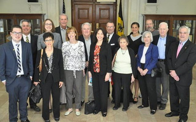 Temple Sinai clergy, members and staff attended the 70th anniversary proclamation at the Pittsburgh City-County Building Photo by Adam Reinherz