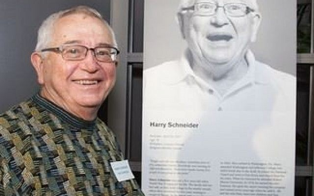Harry Schneider at the Pittsburgh Holocaust Center dedication last year.  Photo courtesy of the Holocaust Center of Pittsburgh; Melanie Friend Photography