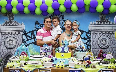 "Eduard and Mariana Zagury held a third birthday party for their twins, Gabriel and Daniela, at a fancy ""party house"" in Rio, but they chose the venue for its innovative educational approach.   Photo courtesy of the Zagury family"