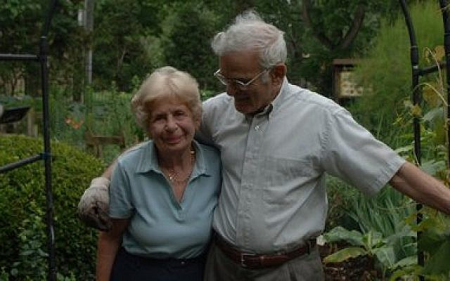 "Rabbi Jacob with wife, Irene (z""l), in Rodef Shalom's Biblical Botanical Garden. Photo provided by Rodef Shalom"