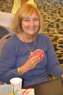 Sandie Brand is working on becoming a gold life master. Photo by Adam Reinherz