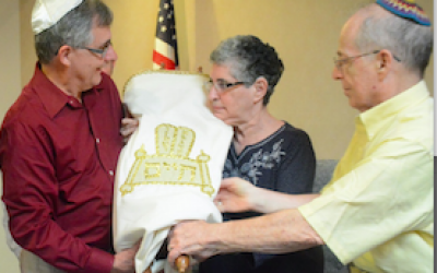 Thanks to Temple David in Monroeville, a new synagogue in Israel will be getting a Torah. Photo by Lillian Dedomenic