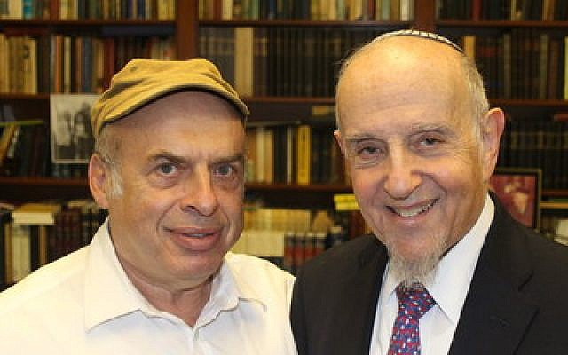 After Israel's Chief Rabbinate rejected a conversion performed by prominent modern Orthodox Rabbi Haskel Lookstein (right) Jewish Agency for Israel Chairman Natan Sharansky, also pictured, protested on his behalf.   Photo by Ben Sales