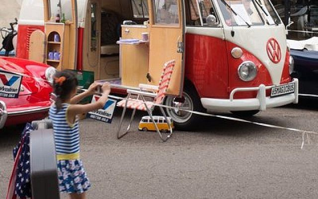 Alan H. Klein's garage holds his much-loved car collection, which includes a 1965 Volkswagen microbus.  Photo courtesy of Alan H. Klein
