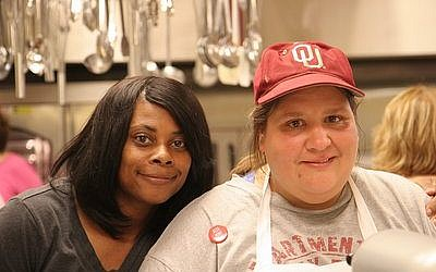 Karra Beck (left) works at Altamont every week, and Mary Nixon is a former employee.   The chocolate chip cookies from Tulsa's Altamont Bakery, which operates in the dairy kitchen at Congregation B'nai Emunah, have been voted the best in the city by the Tulsa World.   Photo courtesy of Congregation B'nai Emunah