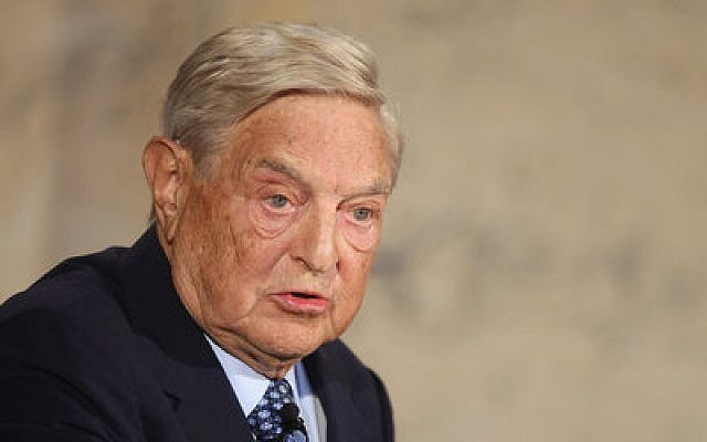 George Soros, pictured in 2012, is the founder and chair of Open Society Foundations, which have given nearly $10 million since 2001 to groups advancing the rights of Arab Israelis.  Photo by Sean Gallup/Getty Images