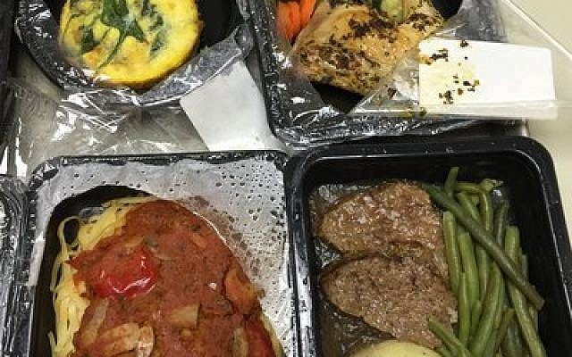 These frozen kosher meals from Creative Kosher Catering have been warmly received at UPMC. Photo by Susan Glessner
