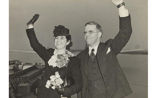 Martha and Waitstill Sharp depart New York Harbor for Prague in 1939.   Photo courtesy of Sharp Family Archives