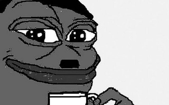 Pepe the Frog, an internet meme, has become a symbol of the alt-right.Photo courtesy of Twitter/Lior Zaltzman