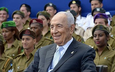 President Shimon Peres celebrates Israel's Independence Day in 2013. Photo by Ben Gershom/Israel Government Press Office