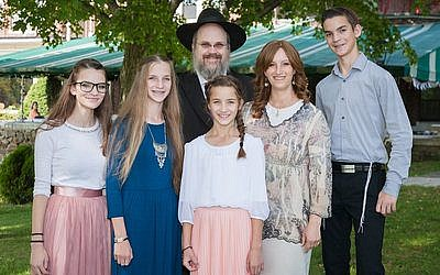 The Vermont-based Crispe family gathers on the day of daughter Ayden's bat mitzvah.	Photos by  Heidi Bagley