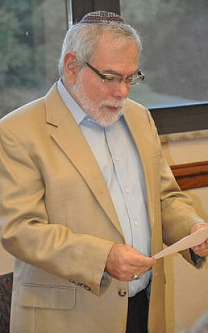 Rabbi Paul Tuchman, of Temple B'nai Israel in White Oak, has taught the Talmud class for several years. Photo by Adam Reinherz