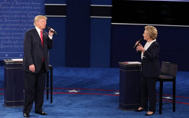 Donald Trump and Hillary Clinton, who sparred fiercely at the second presidential debate at Washington University in St. Louis, Mo., must tread lightly in going after faith-based support. Photo by Daniel Acker/Bloomberg/Getty Images