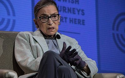 U.S. Supreme Court Justice Ruth Bader Ginsburg said she looks forward to President Donald Trump filling the court's vacant seat. Photo by Justin Katz