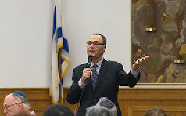 Rabbi Lawrence Hoffman's address was part of several events celebrating Temple Sinai's 70th anniversary.	 Photo by John Schiller, Temple Sinai