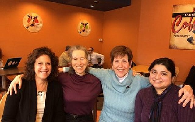 From left: Cindy Goodman-Leib, Sydelle Pearl, Michele Bossers and Aliya Khan are part of The Daughters of Abraham Women's Interfaith Book Group.  Photo by Toby Tabachnick