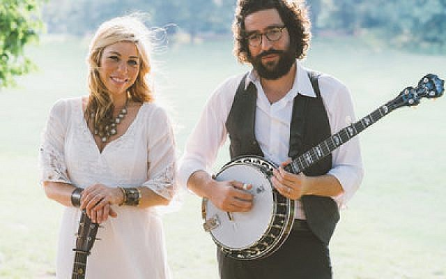 Doni Zasloff and Eric Lindberg combine Jewish lyrical themes with a pure bluegrass sound as the group Nefesh Mountain.  Photo courtesy of BAM Photography
