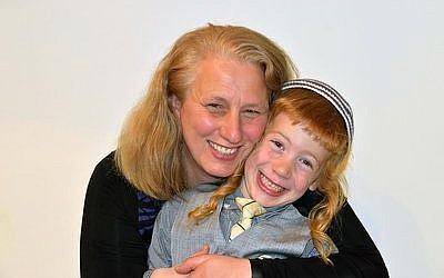 Yael Ukeles, a founder of Kayama Moms, and her son Photo courtesy of Yael Ukeles