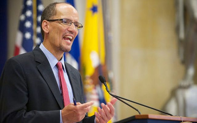 Former Secretary of Labor Tom Perez	Photo by Lonnie Tague for the Department of Justice