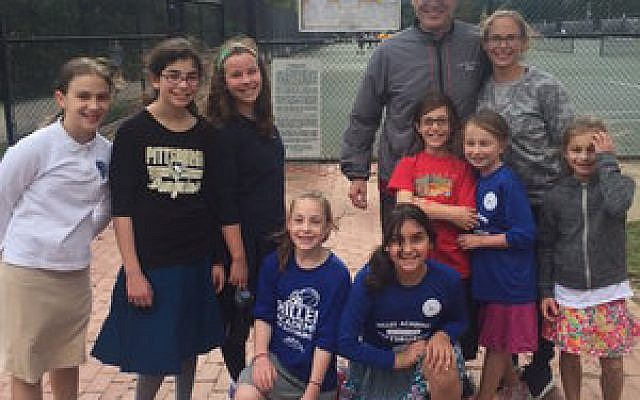 Dayna Greenfield (top row, right) has improved the athletic experience for Jewish girls in Pittsburgh.   Photo courtesy of Hillel Academy of Pittsburgh