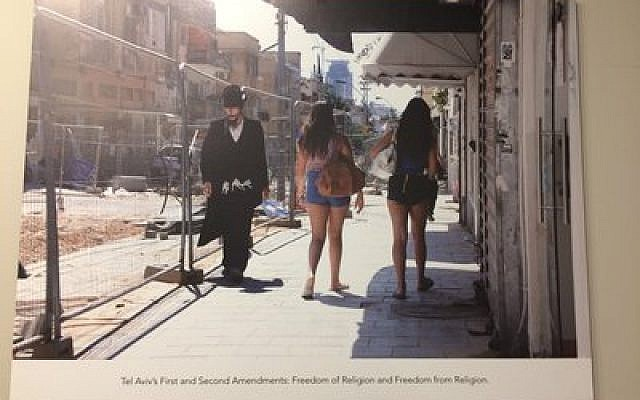 Exhibit photo from Erez Kaganovitz's one-man show depict Tel Aviv's cross section of life.