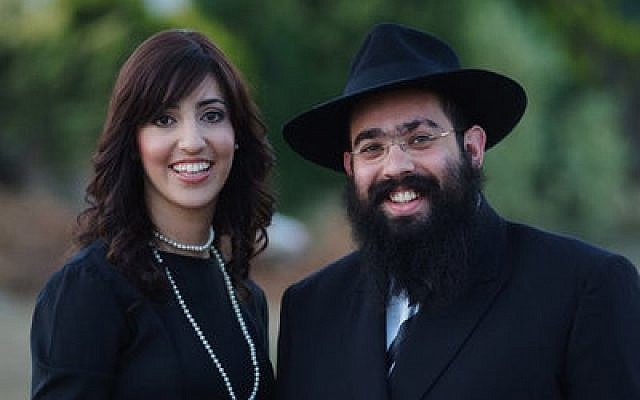 Rabbi Ari Edelkopf and wife Chana in 2009 in Sochi, Russia.   Photo courtesy of Federation of Jewish Communities