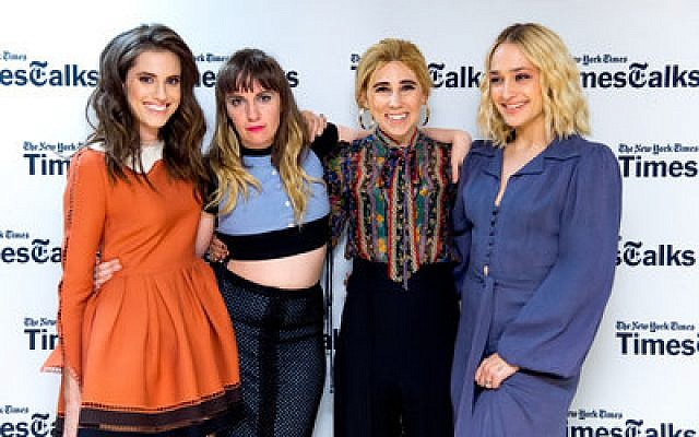 "The main cast of ""Girls"" at a New York Times' TimesTalks event. From left: Allison Williams, Lena Dunham, Zosia Mamet and Jemima Kirke.   Photo by Roy Rochlin/FilmMagic via Getty Images"