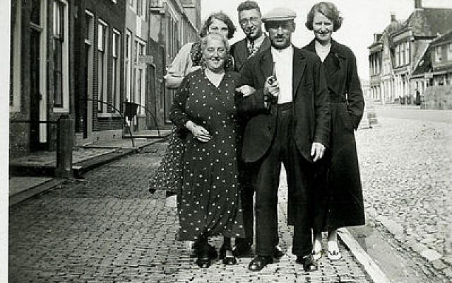 The Boas-Pais family, who perished in the Holocaust, in front of their home in the Frisian city of Harlingen, the Netherlands, before World War II 	Photo courtesy of the Annehuis ter Harlingen