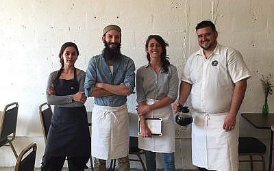 From left: chef Melissa Sosa, Zak Stern, general manager Ashley Dugdale and server Ricardo Araujo. Photo courtesy of Zak the Baker