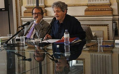 Georges Bensoussan in Milan in 2014.   Photo by Moked/Federico Valente