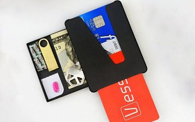 A promotional photo of the Vessel wallet  Photo courtesy of Max Frischman