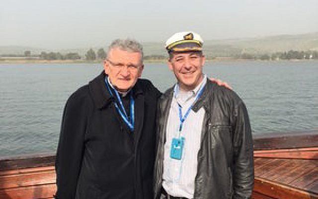 Bishop David Zubik and Rabbi Aaron Bisno on the Sea of Galilee Photo provided by Rabbi Aaron Bisno