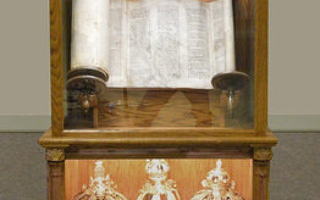 """According to Adam Shear of the Jewish Studies Program at the University of Pittsburgh: """"Each scroll has its own history that involves dozens of Jewish lives.""""Photo courtesy of Temple B'nai Israel of White Oak"""