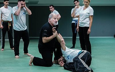 Avi Attlan teaches Krav Maga to students in Saint Mande.   Photo by Cnaan Liphshiz