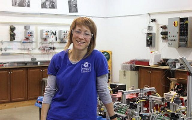 Dara Stern is the only woman in Rosedale's electrical program.   Photo by Angela Stansfield