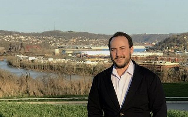 Gabe Perlow stands at the McKeesport site where he hopes to build a greenhouse and processing facility. Photo provided by The Huss Group