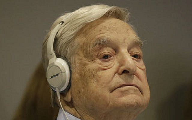 George Soros listens at the United Nations General Assembly in New York in 2016.  (Photo by Peter Foley/Pool/Getty Images)