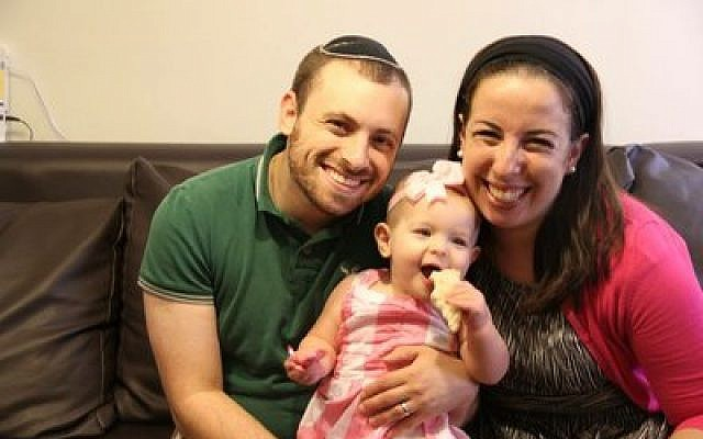 Melody and Avi Coven and their daughter, Dita, recently moved back to United States after finding it challenging to make a living and build community in Israel.  Photo provided by Melody Coven