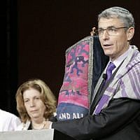 Rabbi Rick Jacobs, Union for Reform Judaism president, addresses the audience at the movement's biennial conference in Orlando, Fla., in November 2015. 	(Photo courtesy of URJ)