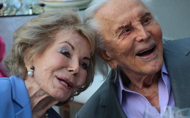 Kirk and Anne Douglas at their 60th wedding anniversary in 2014   (Photo by Christopher Briscoe)