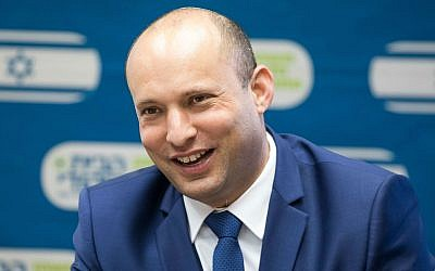 Education Minister Naftali Bennett, is the architect of a new policy that could ban political opinions in Israeli classrooms.   Photo by Yonatan Sindel/Flash90