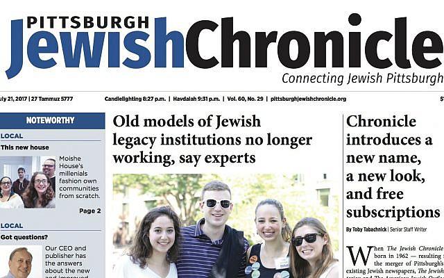 Pittsburgh Jewish Chronicle July 21, 2017