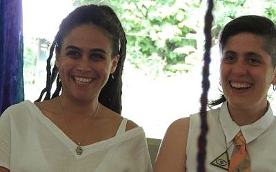 Keshira haLev Fife (left) became a Hebrew priestess in Connecticut. Photo courtesy of Keshira haLev Fife
