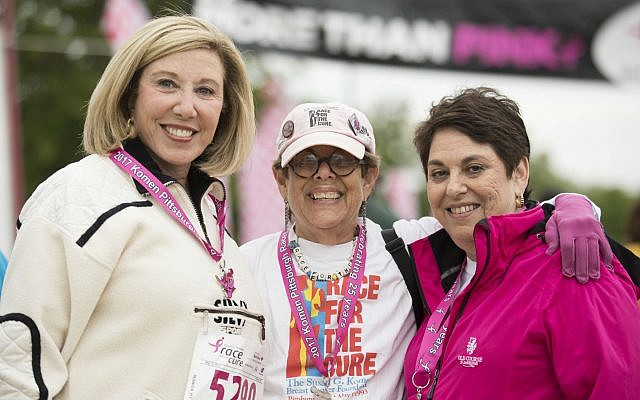 Co-founders of Pittsburgh's Race for the Cure. From left: Pat Siger, Laurie Moser and Eileen Lane. Photo by Joshua Franzos Photography